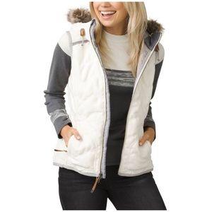 Women's Prana Winter Calla Wool Blend Vest Medium